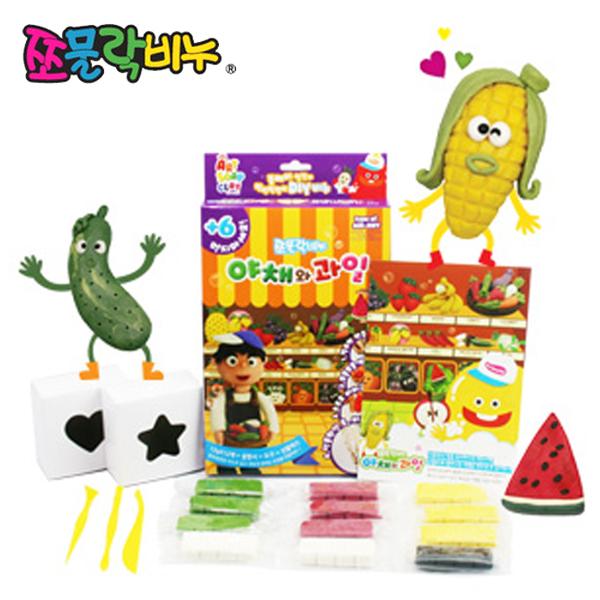 쪼물락비누 아트솝 만들기세트-야채와 과일