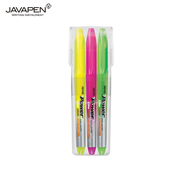 자바 파워라인 형광펜 3색세트