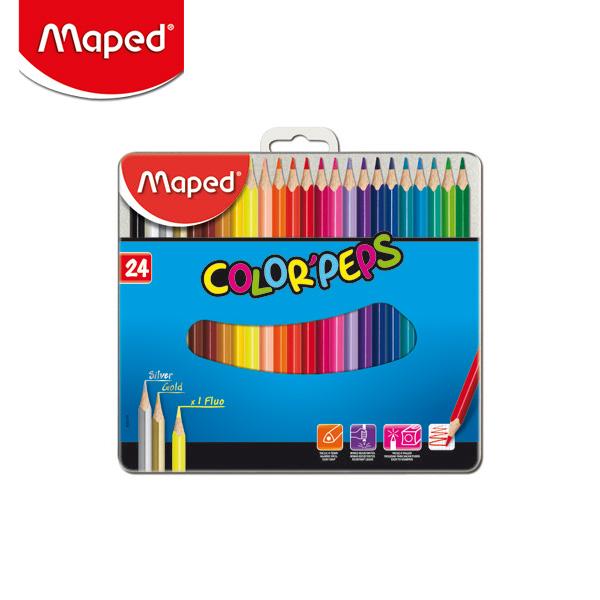 마패드 컬러펩스 일반 색연필 틴 24색  (832016)