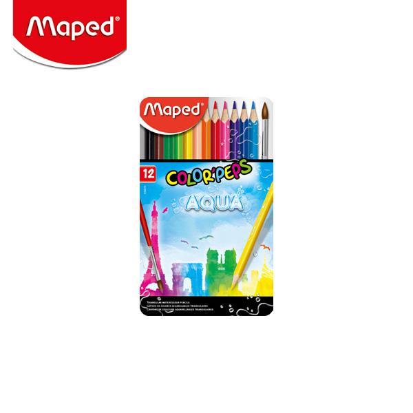 마패드 컬러펩스 수채 색연필 틴 12색 (836014)