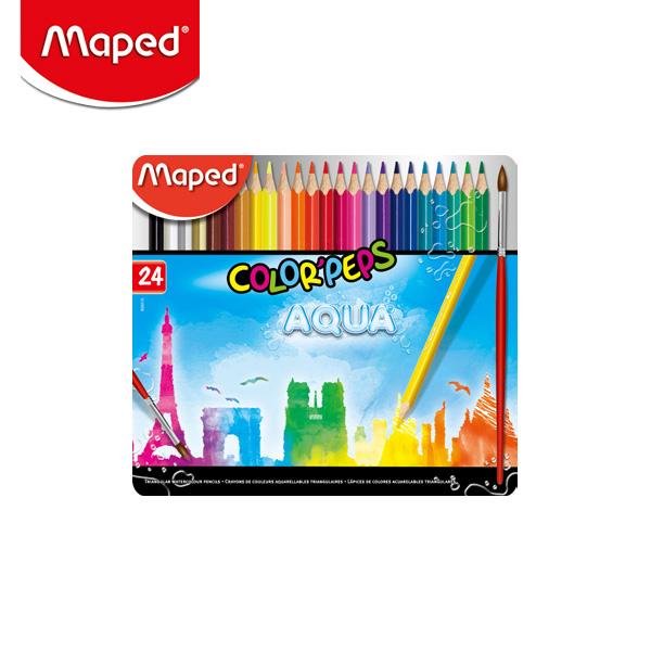 마패드 컬러펩스 수채 색연필 틴 24색 (836016)
