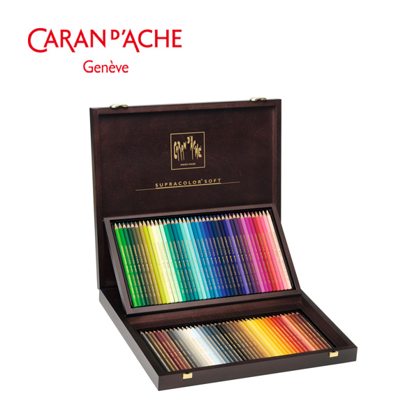 까렌다쉬 수프라컬러 수성색연필 80색 우든박스 전문가용