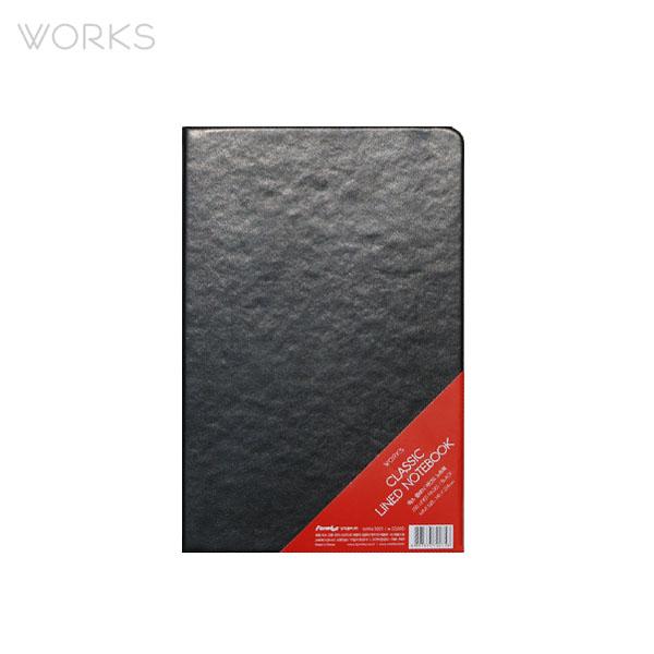 웍스 클래식 라인드 노트북 블랙 맥시 (WAN-3001)
