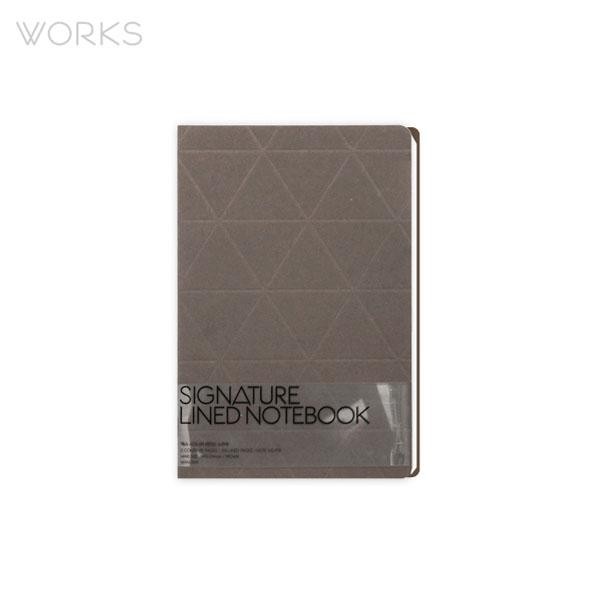 웍스 시그니처 라인드 노트북 브라운 (WAN-3041)