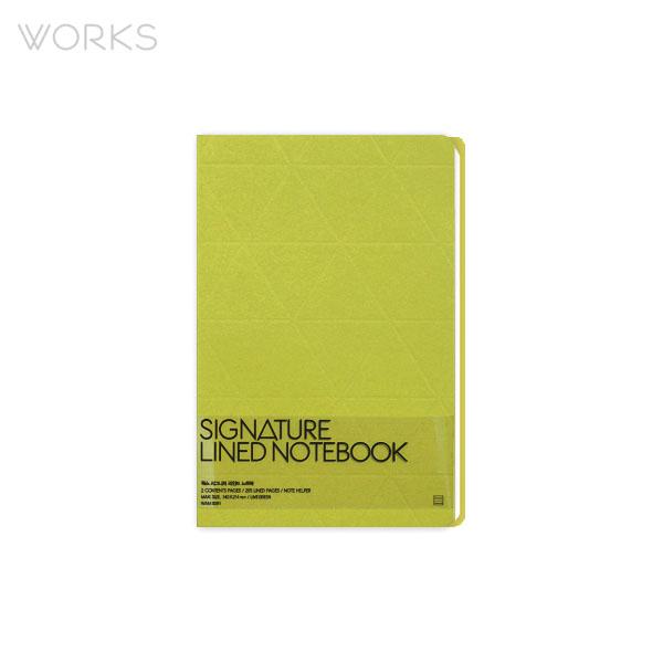 웍스 시그니처 라인드 노트북 라임그린 (WAN-3091)