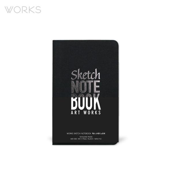 웍스 스케치 노트북 블랙 (WAN-7112)