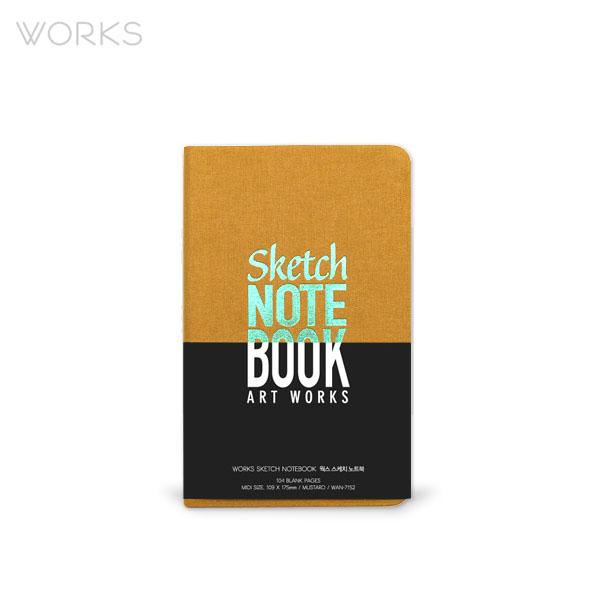 웍스 스케치 노트북 머스타드 (WAN-7152)