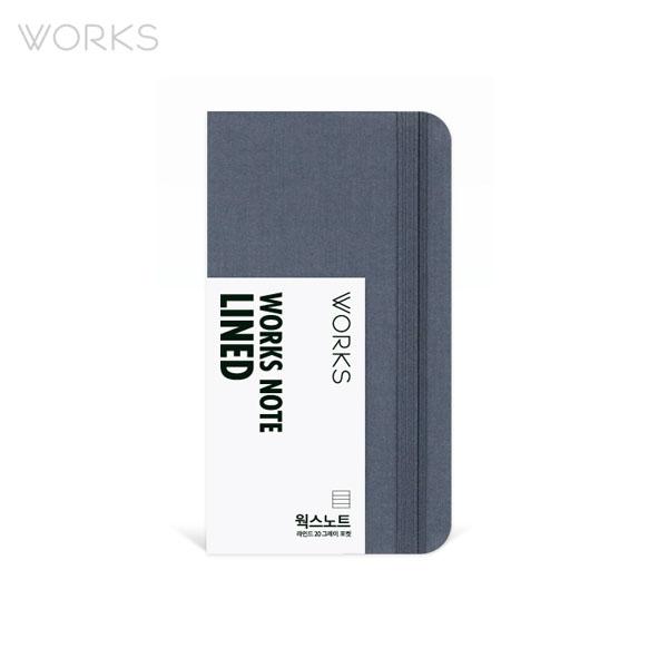 웍스 노트 라인드 20 그레이 포켓 (WSN-1204)